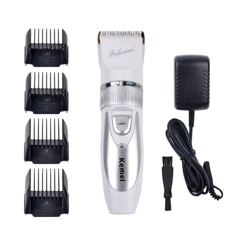 Titanium Blade Electric Hair Trimmer - Adjustable - 4 Limit Combs-shavercentre.com.au