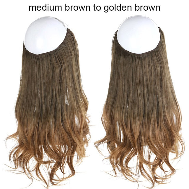 Wavy Halo Hair Extensions-shavercentre.com.au