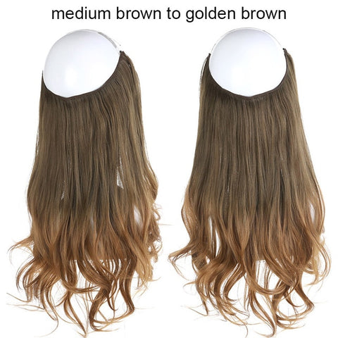 Image of Wavy Halo Hair Extensions-shavercentre.com.au