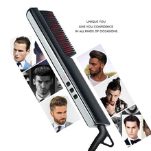 Load image into Gallery viewer, Men's Ionic Hair Straightening Brush-shavercentre.com.au