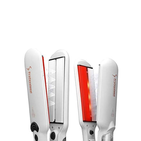 Image of Infrared Steam Wide Plates Hair Straightener-shavercentre.com.au