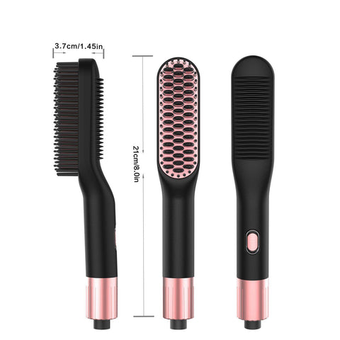 Image of Ceramic Hair Straightener Brush-shavercentre.com.au