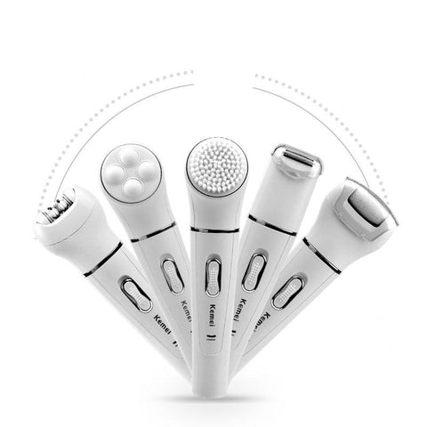 Image of 5 in 1 Epilator, Electric Shaver, Callus Remover, Exfoliater, Massager-shavercentre.com.au