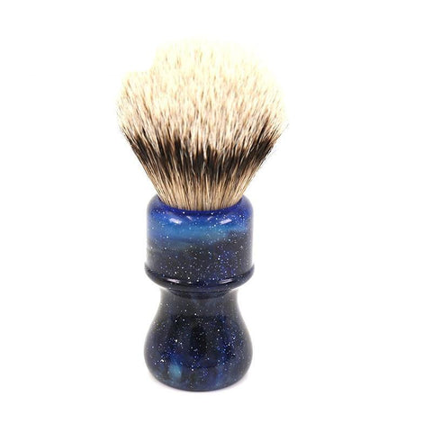 Image of Space Silvertip Badger Shaving Brush-shavercentre.com.au