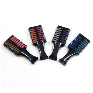6 Colour Hair Comb Chalk Set-shavercentre.com.au