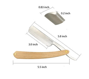 Folding Cut Throat Shaving Razor - Wood Handle-shavercentre.com.au