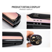 Load image into Gallery viewer, Portable Flat Iron Cordless Hair Straightener-shavercentre.com.au