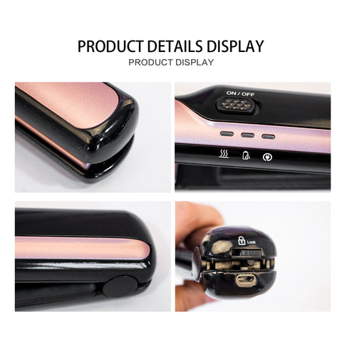 Image of Portable Flat Iron Cordless Hair Straightener-shavercentre.com.au