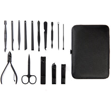 Load image into Gallery viewer, Men's 15 piece Nail Grooming Kit With Carrying Case