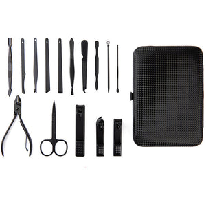 Men's 15 piece Nail Grooming Kit With Carrying Case