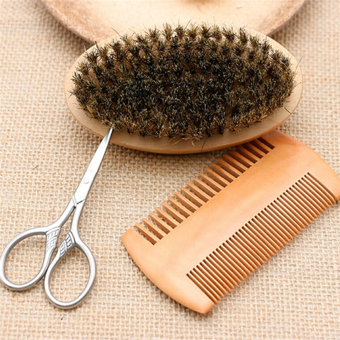 Image of 3 Piece Beard Brush Kit-shavercentre.com.au