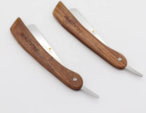 Folding Straight Razor - Pearwood Handle-shavercentre.com.au