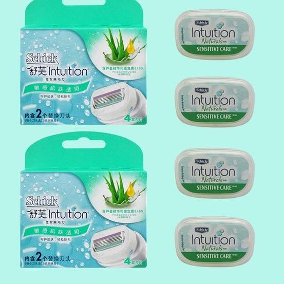 4 X Ladies Razor Blades For Schick Intuition-shavercentre.com.au