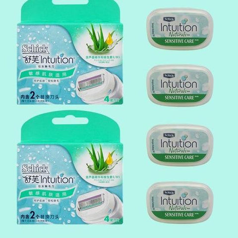 Image of 4 X Ladies Razor Blades For Schick Intuition-shavercentre.com.au