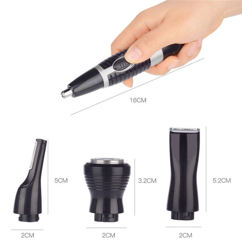 Multi-Functional Nose Hair Trimmer Kit - Black-shavercentre.com.au