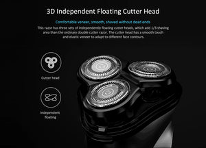 3D Floating Head Electric Shaver-shavercentre.com.au