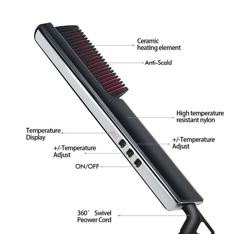 Image of Men's Ionic Hair Straightening Brush-shavercentre.com.au