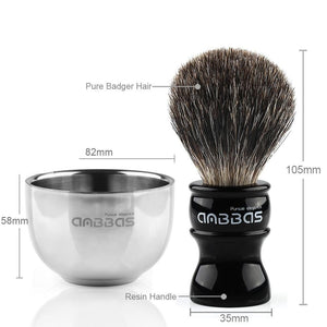 Barber Badger Hair Shaving Brush Bowl Set