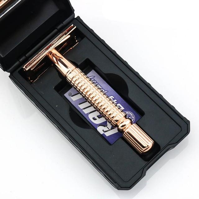 Silvery or Gold Safety Razor-shavercentre.com.au