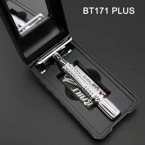 Image of Silvery or Gold Safety Razor-shavercentre.com.au