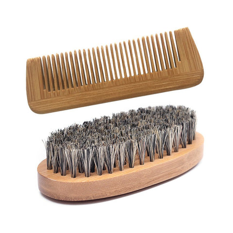 Image of Boar Bristle Beard Brush + Comb-shavercentre.com.au