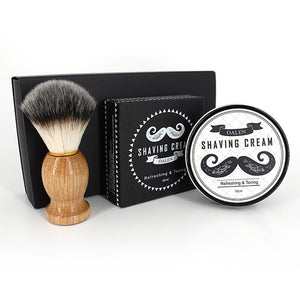 Beard Shaving Kit Soap + Brush