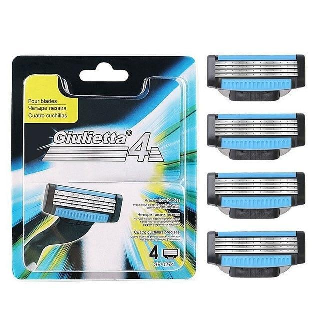 Men's 4-Layer Razor Blades-shavercentre.com.au