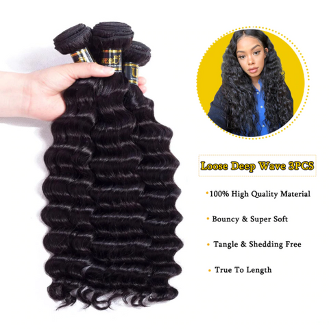 Image of Brazilian Wavy Hair Extensions-shavercentre.com.au