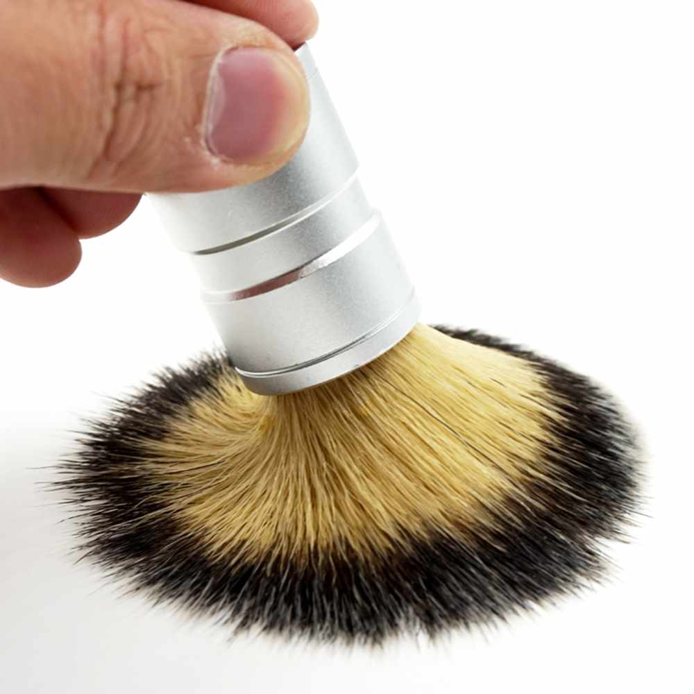 Stainless Steel Handle Shaving Brush-shavercentre.com.au