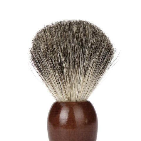 Badger Hair Shaving Brush With Wooden Bowl-shavercentre.com.au
