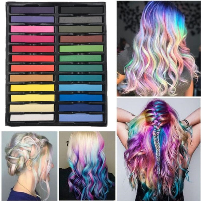 Pastel Hair Dye Chalk Kit-shavercentre.com.au