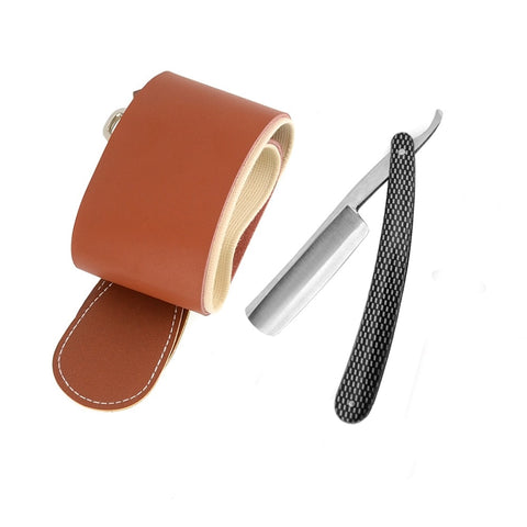 Gold Dollar Cut Throat Razor + Leather Canvas Sharpening Strop-shavercentre.com.au