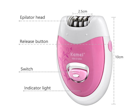 Image of Ladies Rechargeable Electric Epilator-shavercentre.com.au