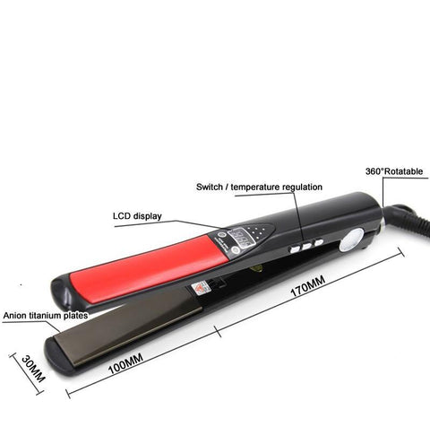 Image of Titanium Plates Flat Iron Hair Straightener-shavercentre.com.au