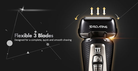 Image of Rechargeable Electric Shaver LCD Screen-shavercentre.com.au