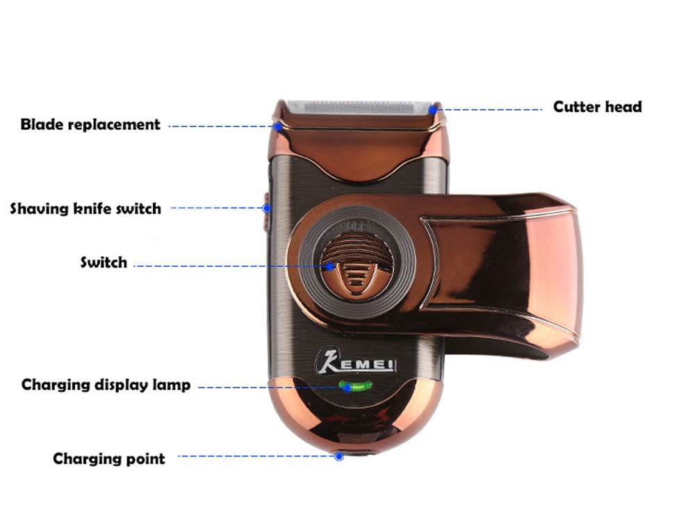 Swivel Compact Electric Shaver-shavercentre.com.au