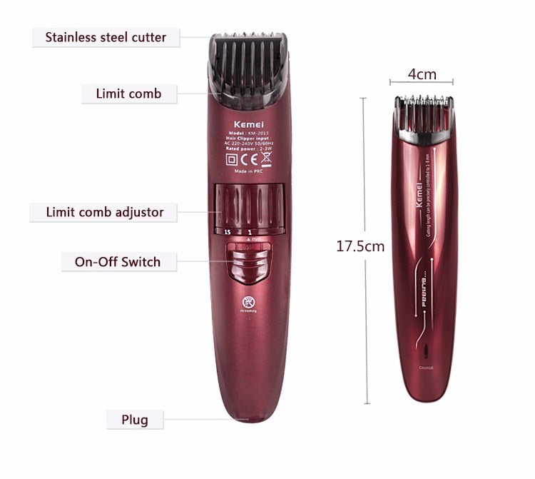 Kemei New Electric Baby Hair Clipper Rechargeable Hair Trimmer Shaver Razor Cordless Adjustable Clipper-shavercentre.com.au