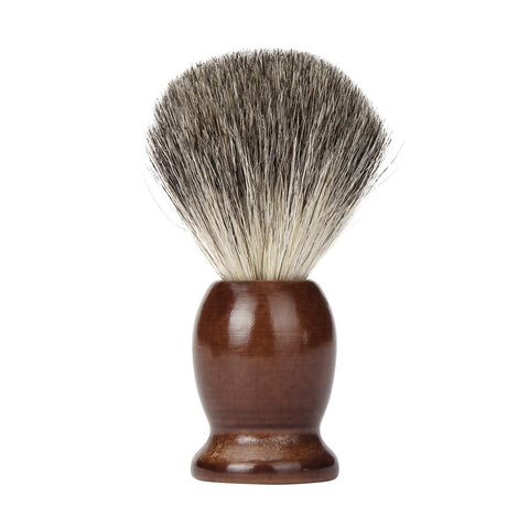Image of Badger Hair Shaving Brush With Wooden Bowl-shavercentre.com.au