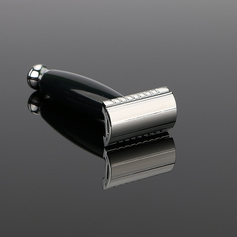 Zinc Alloy Safety Razor + 5 Razors-shavercentre.com.au