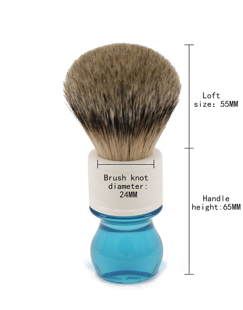 Aqua Silver Tip Badger Shaving Brush-shavercentre.com.au