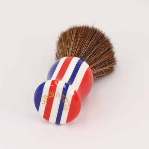 Image of Synthetic Hair Knot Stripe Shaving Brush-shavercentre.com.au