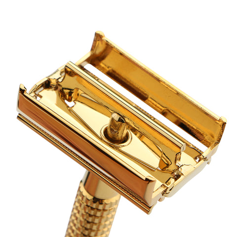 Image of Copper Handle Safety Razor + 10 Blades-shavercentre.com.au