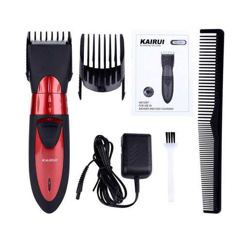 Image of Waterproof Beard Trimmer - 5 Micro Adjustable Beard Trimmer - Red-shavercentre.com.au
