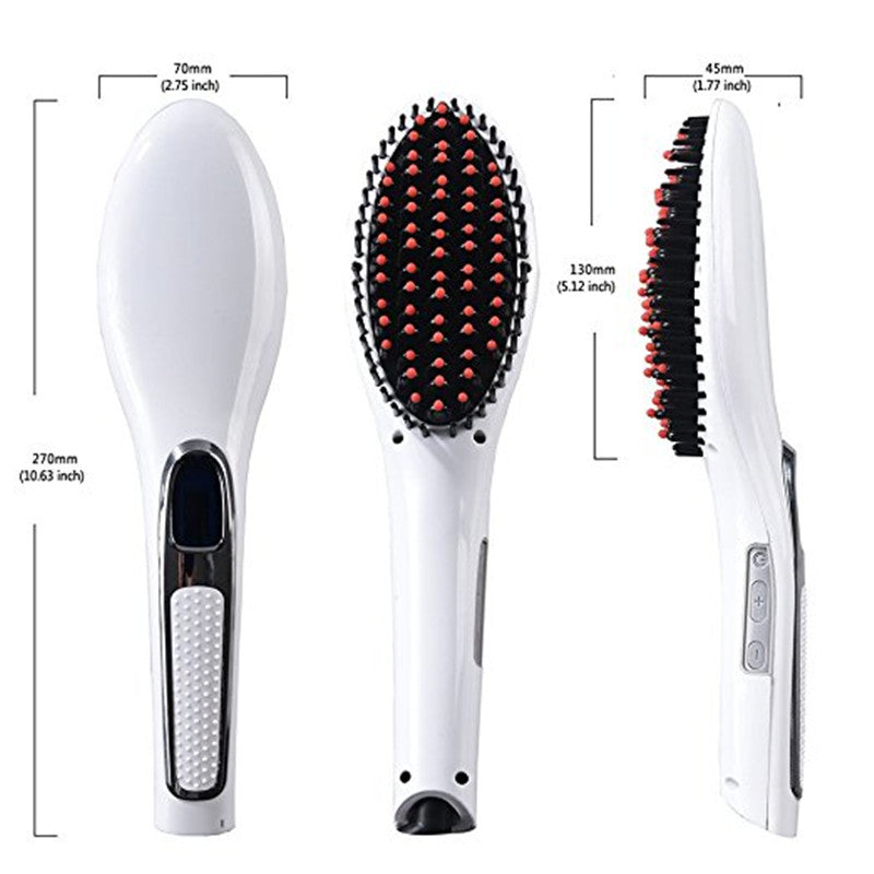 Hair Straightener Brush LED Display-shavercentre.com.au