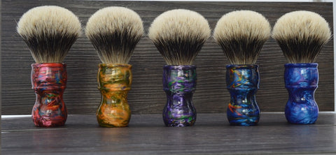 Image of Galaxy Silver Tip Badger Shaving Brush-shavercentre.com.au