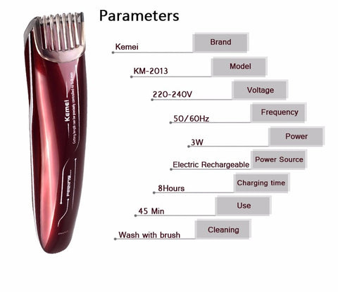 Image of Kemei New Electric Baby Hair Clipper Rechargeable Hair Trimmer Shaver Razor Cordless Adjustable Clipper-shavercentre.com.au