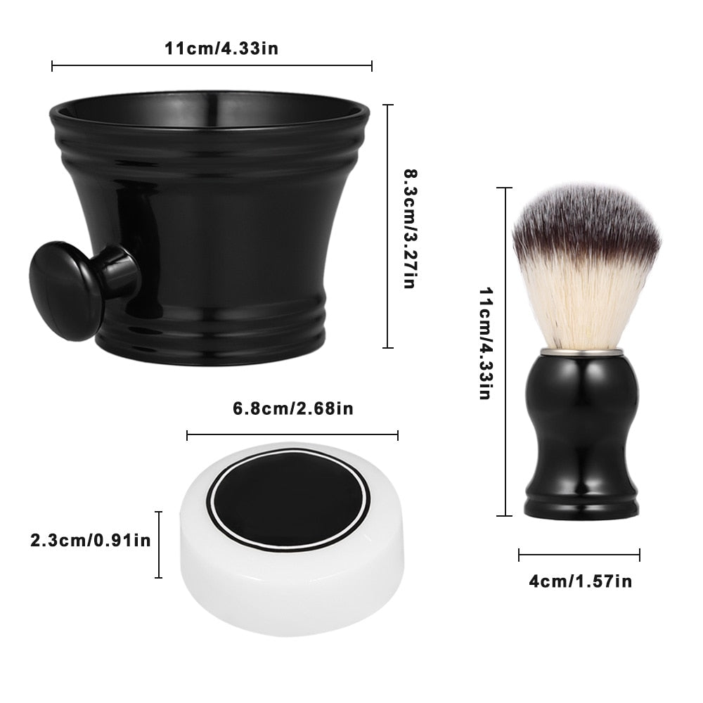 3pcs Traditional Shaving Brush Tools-shavercentre.com.au