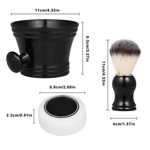3pcs Traditional Shaving Brush Tools