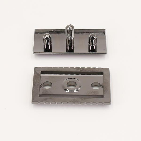 Charcol Color Cobbled Safety Razor Head-shavercentre.com.au