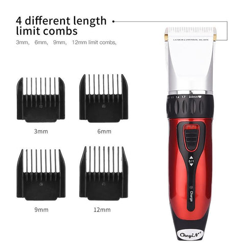Image of Professional Electric Hair Clipper - 5 Gear Fine Tuning For Beard Trimming - Cordless - Ceramic Blade-shavercentre.com.au